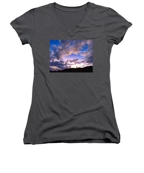 Blue Sunset Women's V-Neck
