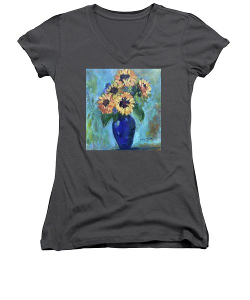 Blue Vase Women's V-Neck (Athletic Fit)