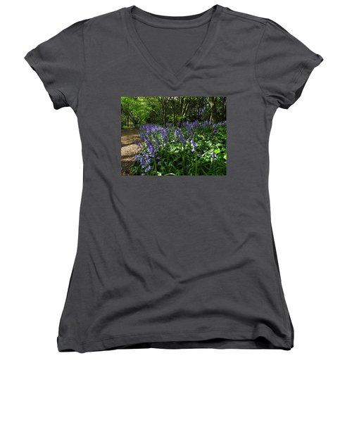 Bluebells4 Women's V-Neck T-Shirt