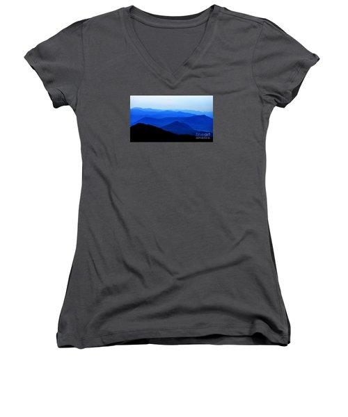Blueridge Mountains - Parkway View Women's V-Neck T-Shirt