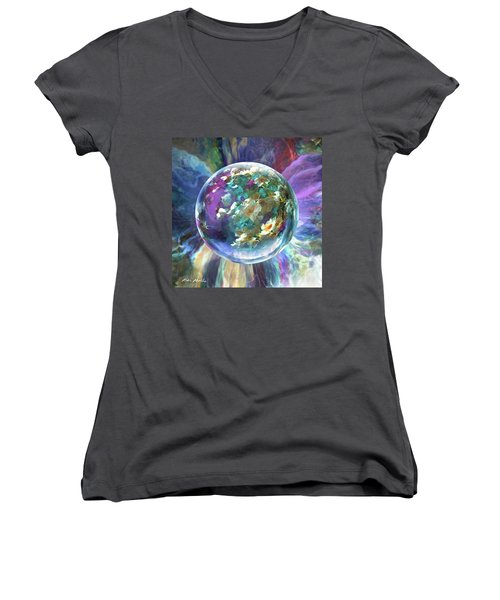 Blues Bouquet  Women's V-Neck