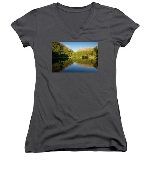 Blues Skies In Glencoe Women's V-Neck (Athletic Fit)