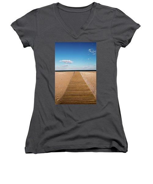 Boardwalk To The Ocean Women's V-Neck