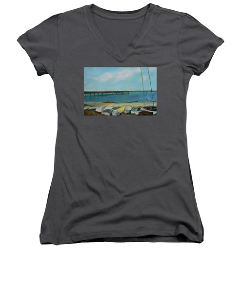 Boats Of Salt Run Too Women's V-Neck (Athletic Fit)