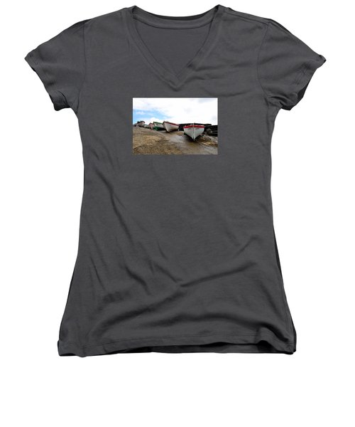 Boats,fishing-24 Women's V-Neck (Athletic Fit)