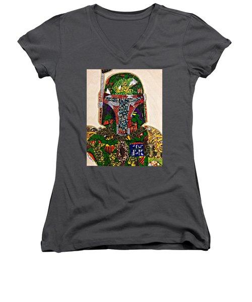 Boba Fett Star Wars Afrofuturist Collection Women's V-Neck