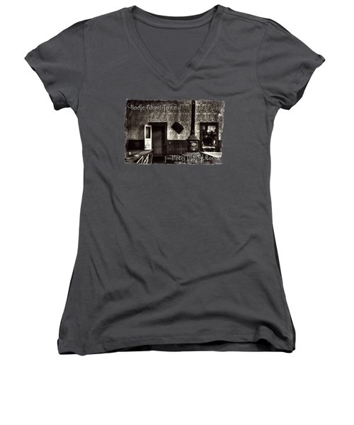 Bodie Hotel Dining Room With Pool Table Women's V-Neck