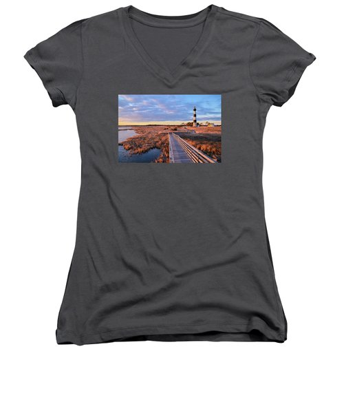 Bodie Lighthouse Women's V-Neck (Athletic Fit)