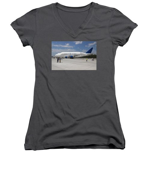 Boeing Dreamlifter 1 Women's V-Neck (Athletic Fit)