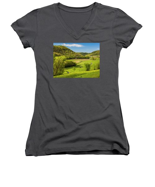 Bohemian Valley Women's V-Neck (Athletic Fit)
