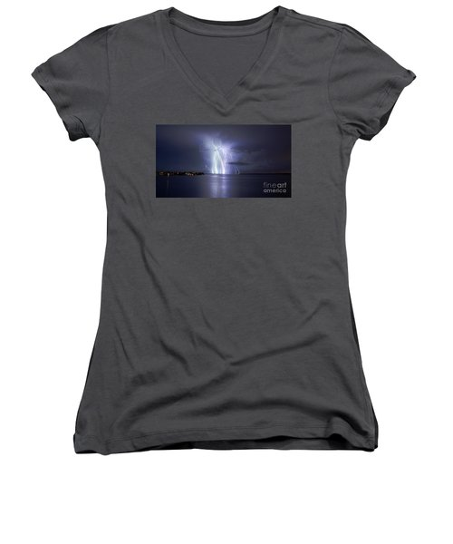 Bokeelia Nights Women's V-Neck T-Shirt