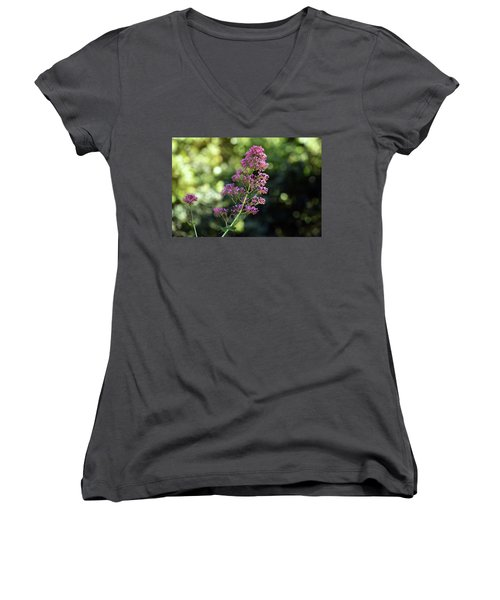 Bokeh Of Anacapri Flower Women's V-Neck (Athletic Fit)