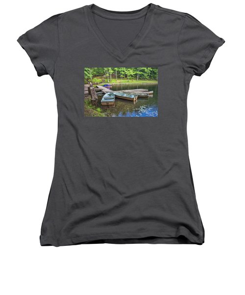 Boley Lake Women's V-Neck (Athletic Fit)
