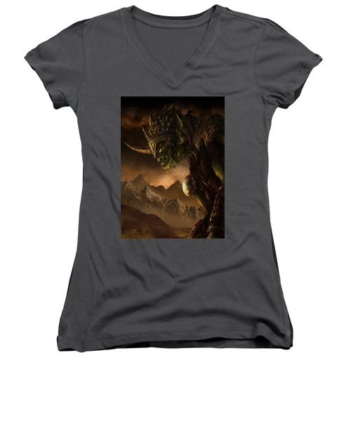 Bolg The Goblin King Women's V-Neck T-Shirt