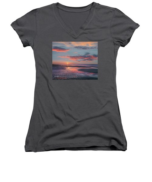 Bolivar Flats, Texas Women's V-Neck T-Shirt