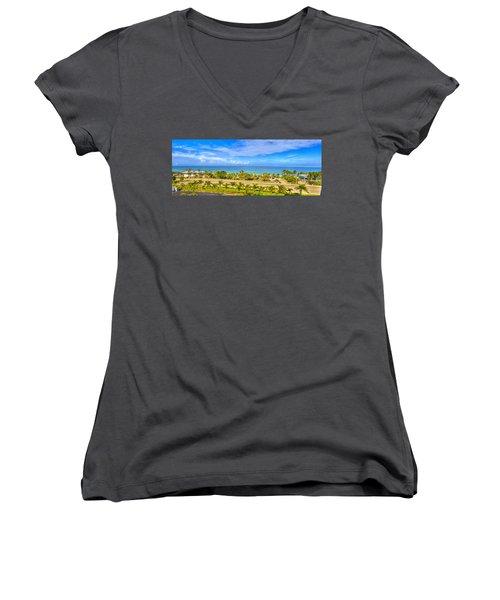 Bonita Beach Women's V-Neck T-Shirt (Junior Cut)