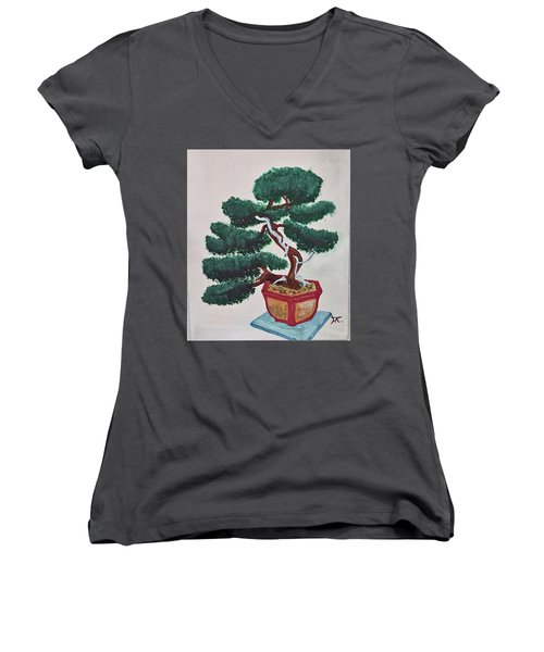 Bonsai #3 Women's V-Neck