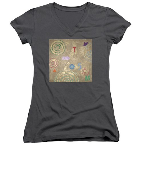 Boogie 5 Women's V-Neck T-Shirt (Junior Cut) by Bernard Goodman