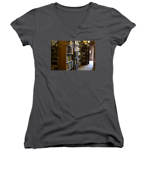 Baldwin's Book Barn Women's V-Neck (Athletic Fit)