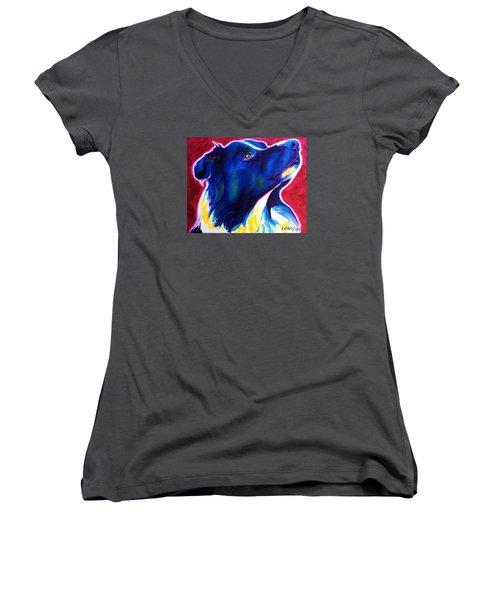 Border Collie - Bright Future Women's V-Neck T-Shirt