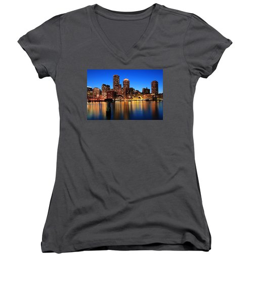 Boston Aglow Women's V-Neck (Athletic Fit)
