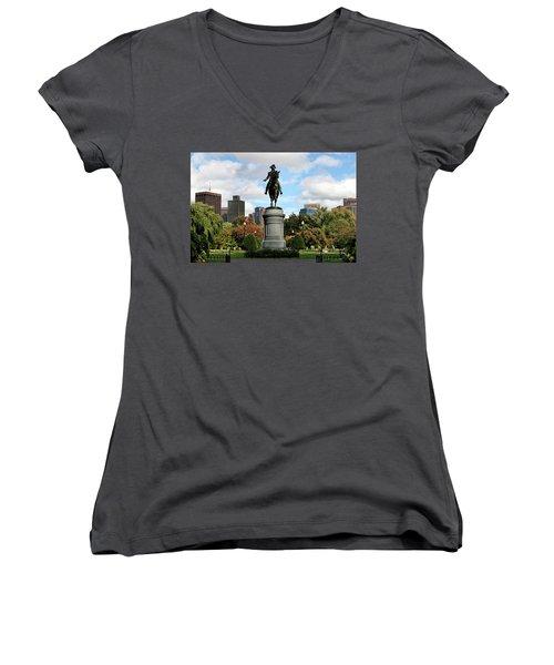 Boston Common Women's V-Neck T-Shirt (Junior Cut) by DJ Florek