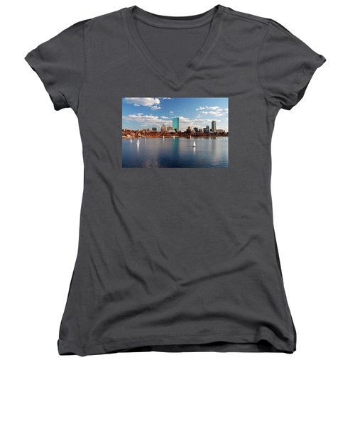 Boston On The Charles  Women's V-Neck