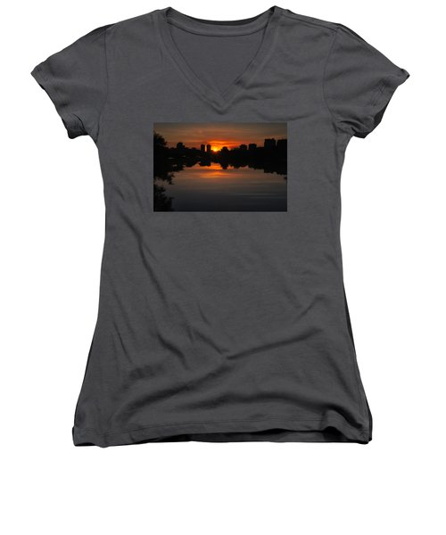 Boston Sunrise Women's V-Neck (Athletic Fit)