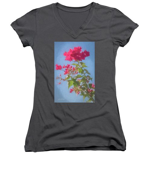 Bougainvillea Morning Women's V-Neck (Athletic Fit)
