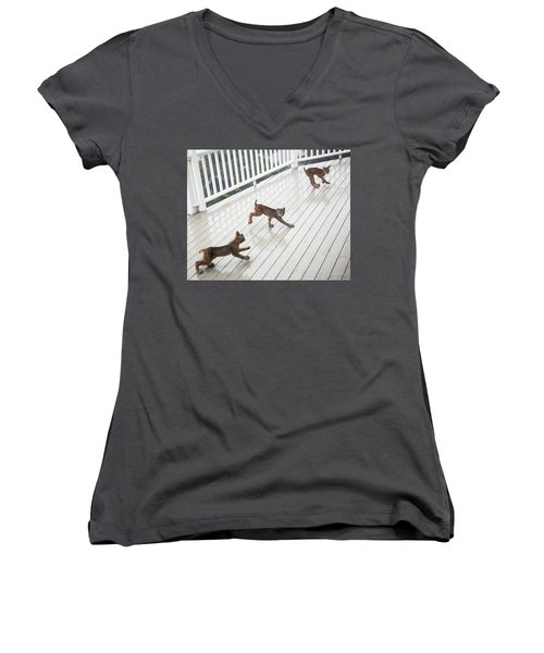 Bouncing Is Best Women's V-Neck (Athletic Fit)