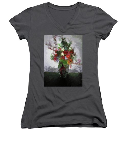 Bouquet Of Flowers Women's V-Neck (Athletic Fit)