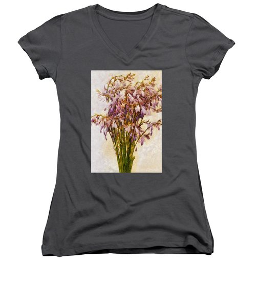 Bouquet Of Hostas Women's V-Neck (Athletic Fit)