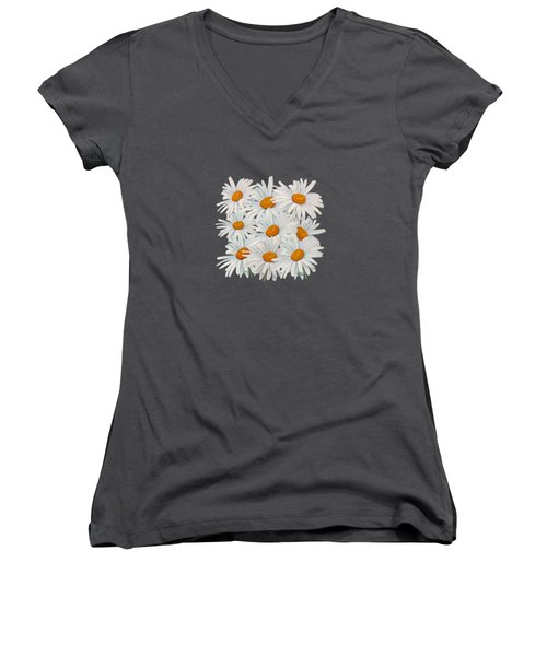 Bouquet Of White Daisies Women's V-Neck T-Shirt