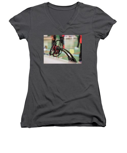 Bow Women's V-Neck (Athletic Fit)