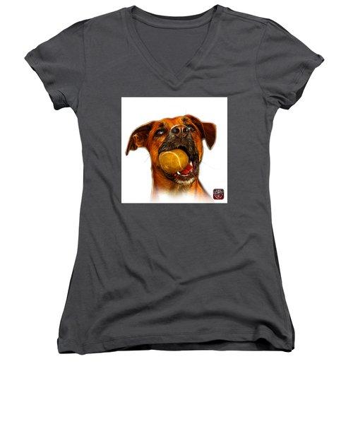 Boxer Mix Dog Art - 8173 - Wb Women's V-Neck