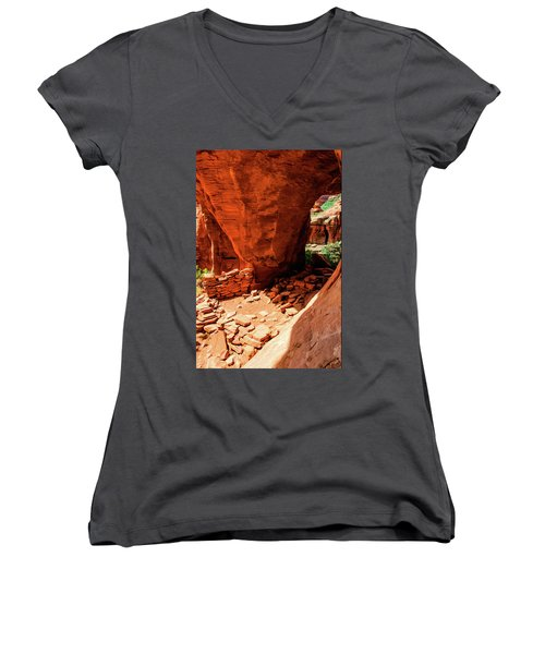 Boynton Canyon 04-647 Women's V-Neck T-Shirt (Junior Cut) by Scott McAllister