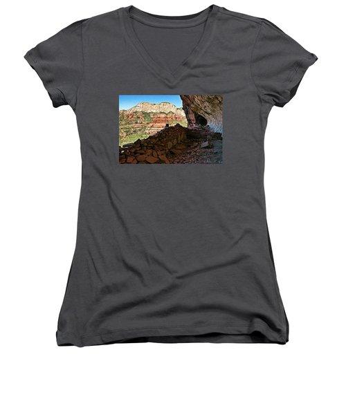 Boynton Canyon 05-1019 Women's V-Neck T-Shirt (Junior Cut) by Scott McAllister