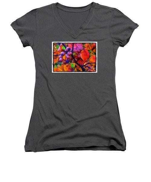 Bradford Pear In Autumn Women's V-Neck T-Shirt