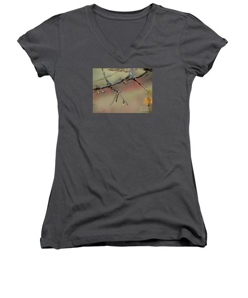 Branch With Water Abstract Women's V-Neck