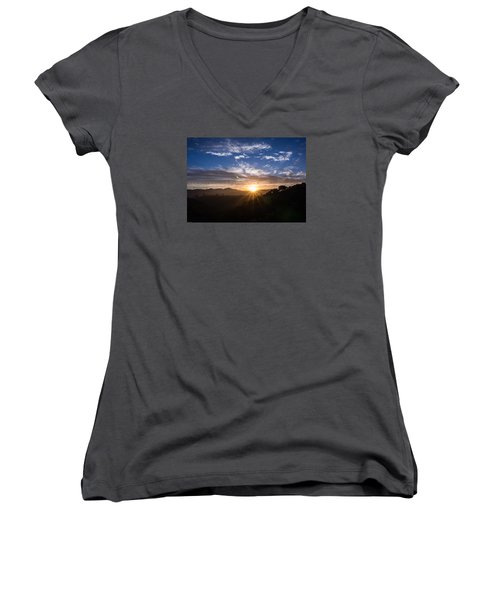 Women's V-Neck T-Shirt (Junior Cut) featuring the photograph Brand New Day  by Jeremy McKay