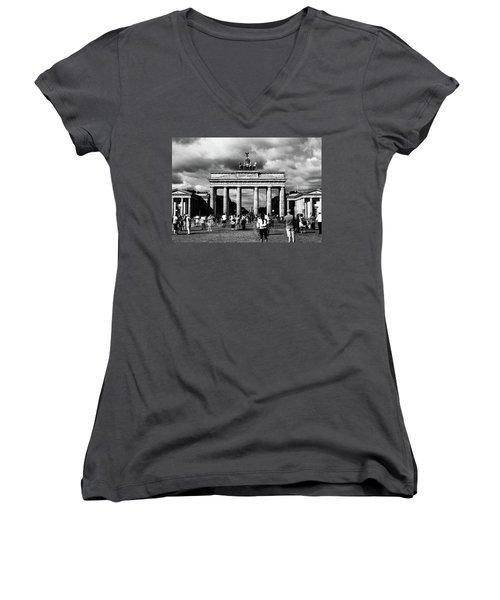 Brandenburg Gate Women's V-Neck (Athletic Fit)