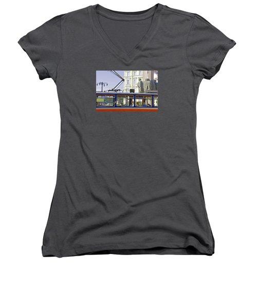 Bratislava Trolley Women's V-Neck T-Shirt