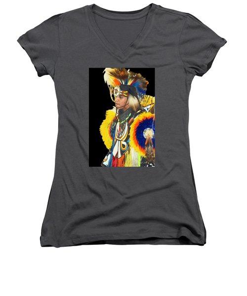 Brave 3 Women's V-Neck T-Shirt (Junior Cut) by Audrey Robillard