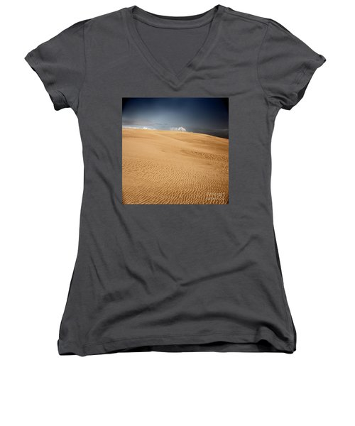 Women's V-Neck T-Shirt (Junior Cut) featuring the photograph Brave New World by Dana DiPasquale