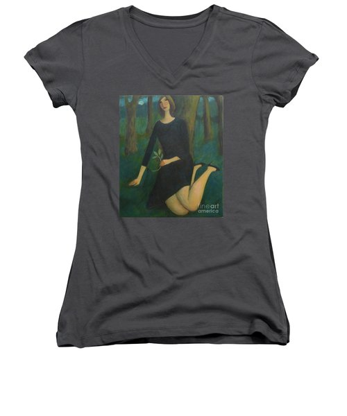 Break In The Evening Women's V-Neck (Athletic Fit)