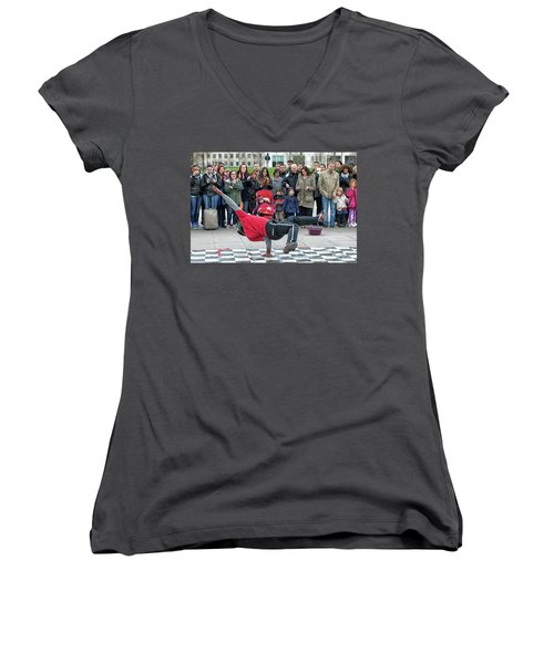 Breakdancer Women's V-Neck