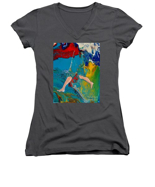 Breaking Through Women's V-Neck
