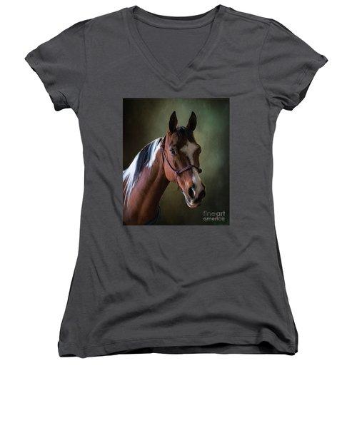 Breezie Women's V-Neck T-Shirt (Junior Cut) by Jim  Hatch