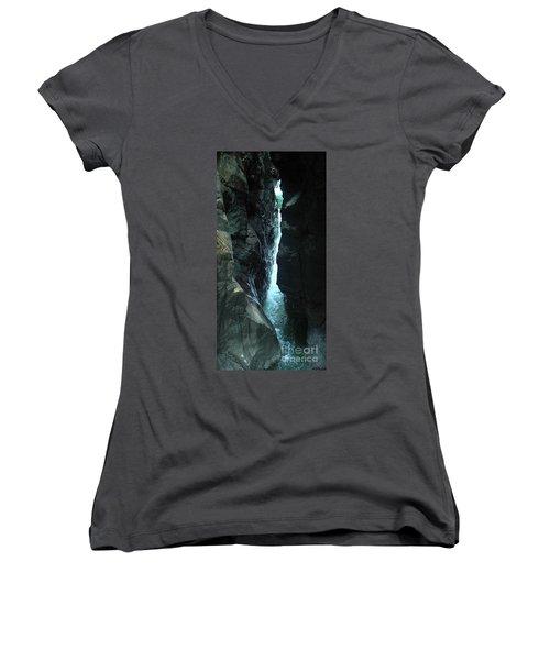 Breitach Gorge Oberstdorf 7 Women's V-Neck T-Shirt