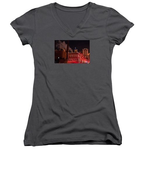 Brewery Lights Women's V-Neck T-Shirt